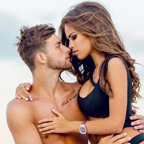 Close up portrait of romantic attractive sensual couple in love hugging - Are Gemini Men Perverts