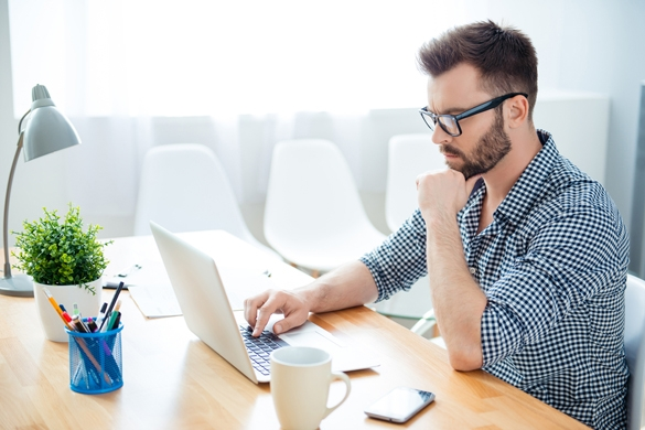 concentrated ponder man finding way to solve his problems - Healthy Gemini Man Relationships