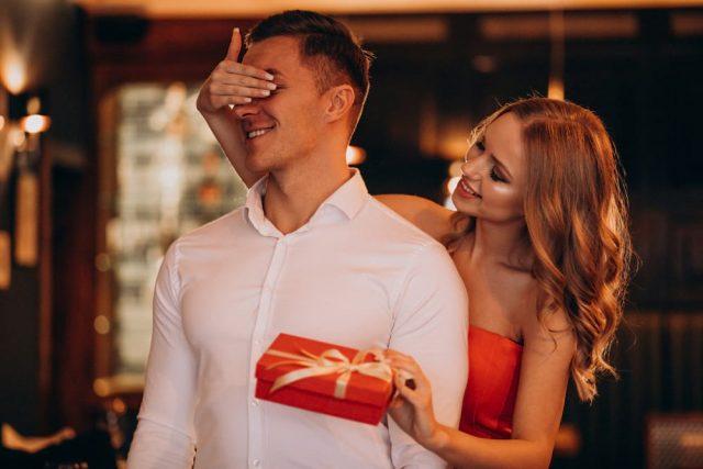 Woman Gifting A Gemini Man